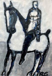 James Koskinas Horse & Rider with Blue III