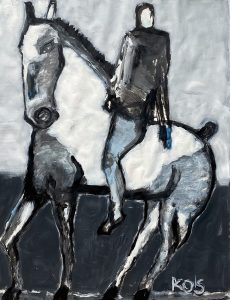 James Koskinas Horse and Rider with Gray