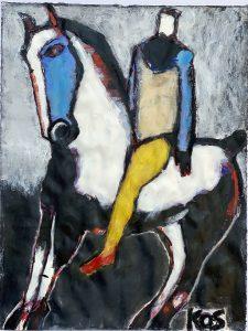 Koskinas Horse and Rider with Yellow 4