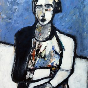 James Koskinas Girl in Blue Field