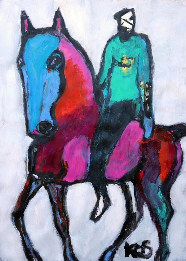 Koskinas Horse with Green Rider