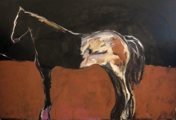 ames Koskinas Horse in Black Field