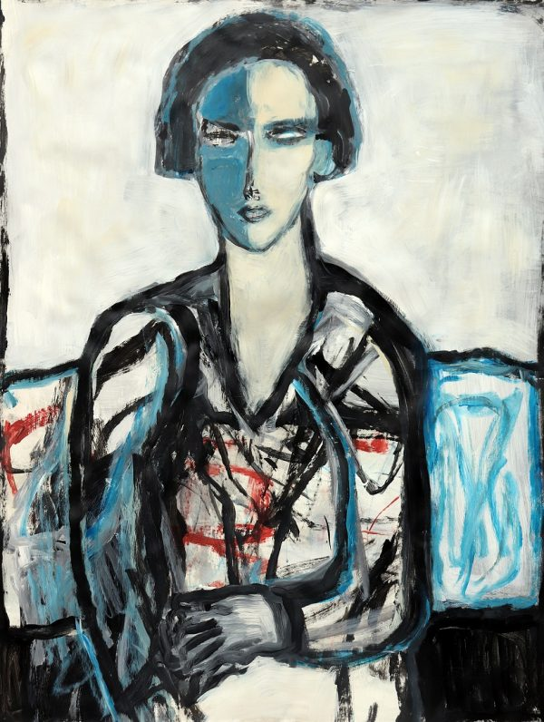 koskinas girl in blue chair
