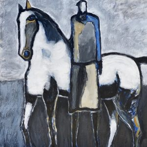 james koskinas Horse and Rider with Blue