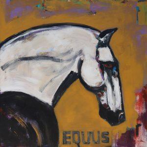 Portrait of White Horse James Koskinas