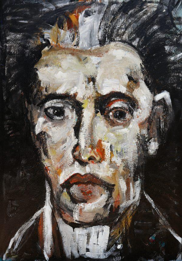 james koskinas face with white