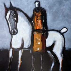 james koskinas horse and rider with orange