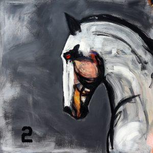 james koskinas white horse with yellow